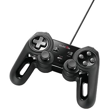 エレコム USB ゲームパッド 13ボタン Xinput 振動 連射 高耐久 ブラック JC-U4013SBK