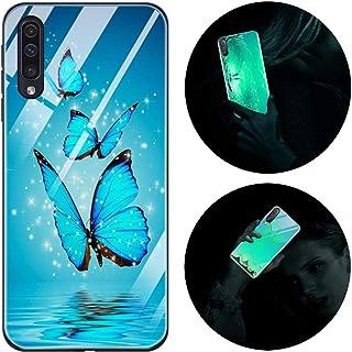 Funda Samsung Galaxy A70, Luminosa Funda para Samsung Galaxy A70, Carcasa con Dibujos Diseño Silicona TPU y PC Trasera Cri...