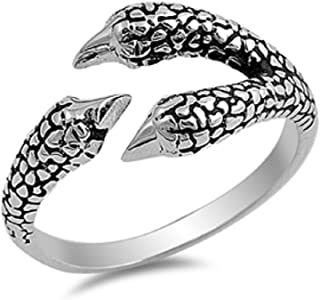 CloseoutWarehouse Sterling Silver Eagle Claw Designer Ring