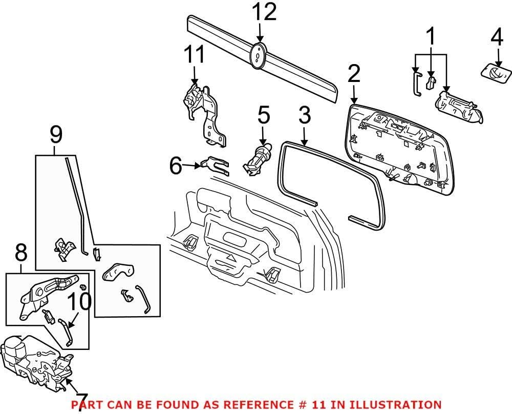 Genuine OEM Trunk Lock Actuator Motor for Saab 15840460