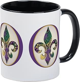 CafePress Fleur De Lis Mardi Gras Beads Mug Unique Coffee Mug, Coffee Cup
