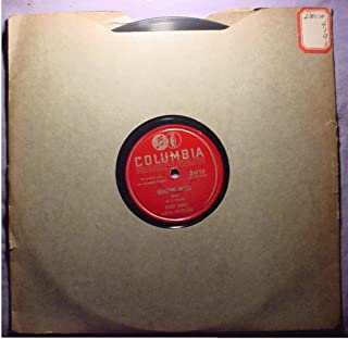 Harry James & His Orchestra Near Mint Original 10 Inch 78 rpm - Memphis Blues / Sleepy Time Gal - Columbia Records 1942