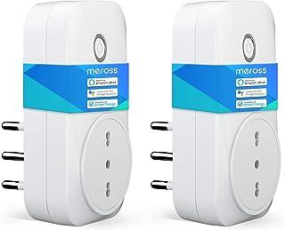 meross Presa Intelligente Wifi Italiana 16A 3680W Smart Plug Spina Energy Monitor, Funzione Timer, APP Controllo Remoto, C...