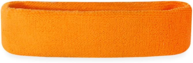 Suddora Sweatband/Headband - Terry Cloth Athletic Basketball Head Sweat Bands