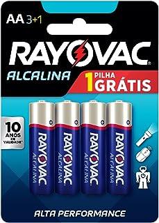 Pilha, Rayovac, 208013, Azul, Aa, Pequena, Pacote de 4