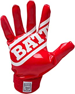 Battle Double Threat Football Gloves – Ultra-Tack Sticky Palm Receivers Gloves – Pro-Style Receiver Gloves, Youth