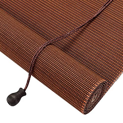 GDMING-Persiana De Bambú, Natural Filtrado De Luz Sombra Enrollable Cortinas Romanas con Cenefa Exterior Interior Toldo Porche Solárium, Personalizable (Color : Brown, Size : 50x100cm)