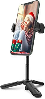 Phone Tripod, BlitzWolf Mini Tripod Stand Extendable Tabletop Desktop Tripod 360° Rotation for iPhone 11 Pro 11 XS Max XS ...
