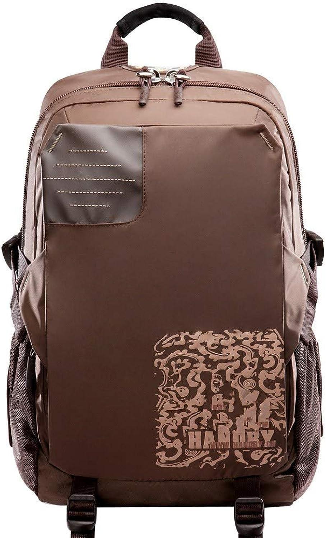 DYR Backpack Sports Travel Backpack Student Bag Men and Women Business Computer Bag Outdoor Leisure Bag, Brown