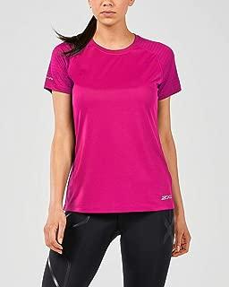 2XU X Vent Short Sleeve Womens Running Top - Pink