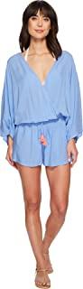 Womens Riviera Solids Cover-Up Romper