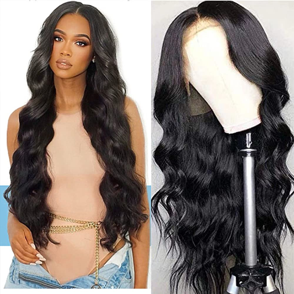 Lowest price challenge 13x4 Lace Frontal Wigs Human Black for Wave Body Hair Fashionable