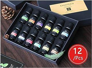 Limón Aceites Esenciales de Aromaterapia 100% de Aceite Esencial Natural Conjunto de Difusores y Humidificadores con Caja de Regalo Exquisita (12)