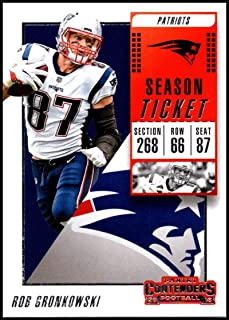 2018 Panini Contenders Season Tickets Football #37 Rob Gronkowski New England Patriots Official NFL Trading Card