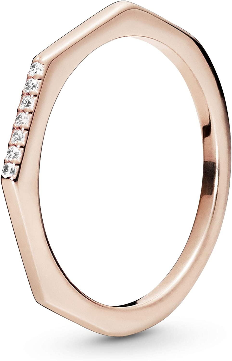 Outlet ☆ Free Shipping Gifts Pandora Jewelry Multifaceted Cubic in Rose Zirconia Ring