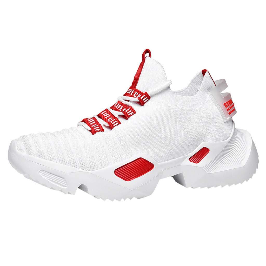 RYTEJFES Zapatilla de Deporte Transpirables para Hombres Zapatillas De Trabajo Zapatos Deportivos Corte Alto Zapatillas De Deporte Ligeras De Malla Calzado Deportivo con Cordones: Amazon.es: Hogar