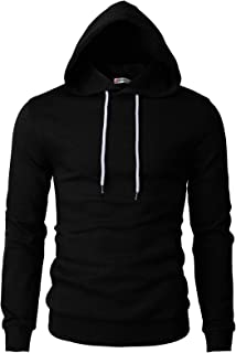 H2H Mens Casual Slim Fit Lightweight Long Sleeve Hoodie