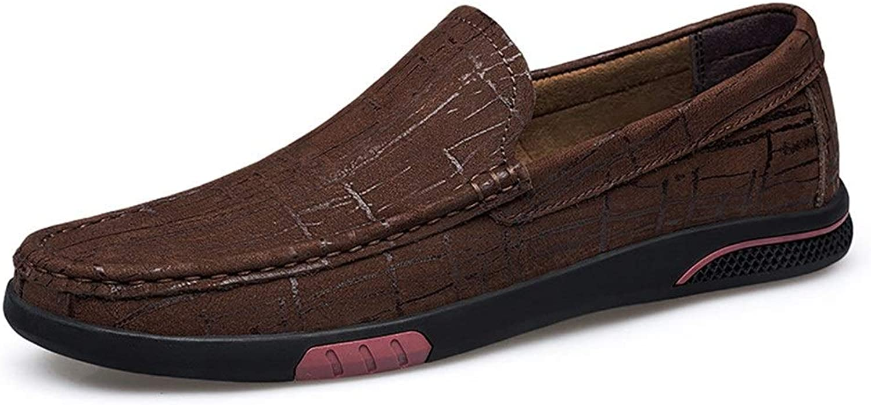 Cvbndfe-Men's Casual Casual schuhe Bequeme Herrenschuhe Driving Loafer Slip On Style Mokassins aus Leder mit feiner Struktur Atmungsaktiv bequem (Farbe   Braun, Größe   36 EU)  Werbeartikel