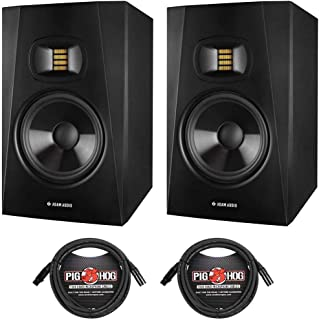 """Adam Audio 2 Pack Professional T-Series T7V 7"""" 70W 2-Way Active Nearfield Monitor, Single - With 2 Pack 15' 8mm XLR Microphone Cable"""