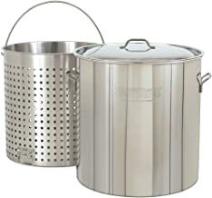 Bayou Classic 1182, 82-qt Stainless Steel Stockpot with Perforated Basket