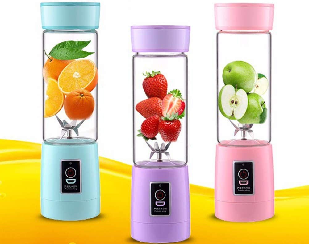 Mixeur Multifunction,Mélangeur De Balle Magique Rechargeable USB LMM Mini Cup,Mélangeur Personnel 600 Ml,Mélangeur De Fruits Avec Six Lames(noir) Green