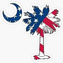 WillettaStore American Flag Palmetto Moon Stickers (3 Pcs/Pack)