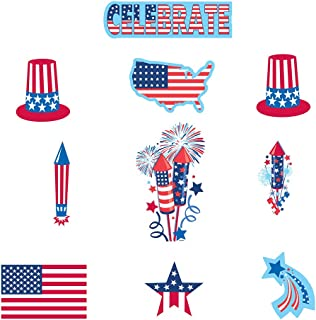 30 Piece Bulk Pack 4th of July Paper Cutout Decorations Patriotic Red White And Blue Party Favor Supplies Accessories For Indoor and Outdoor Use