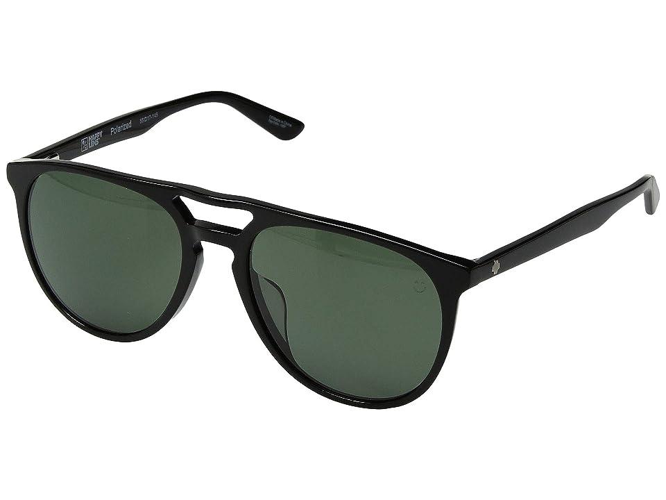 Spy Optic Syndicate (Black/Happy Gray Green Polar) Athletic Performance Sport Sunglasses
