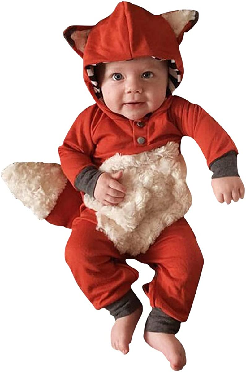 Newborn Baby Girl Boy Award-winning store Halloween Max 54% OFF Cartoon Coat Cosplay Fox Clothes
