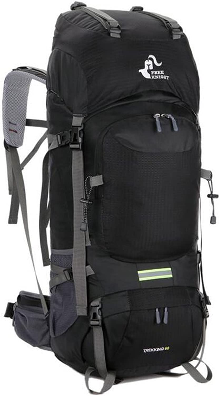 HEbag 60 L Hiking & Backpacking Pack Camping Hiking Climbing Waterproof RainProof Wearable Multifunctional Nylon Mesh College Travel Backpack (color   3)