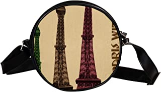 COOSUN Frankreich, Paris, Frankreich, Stadt, runde Umhängetasche, Umhängetasche, Handtasche, Handtasche, Umhängetasche, fü...