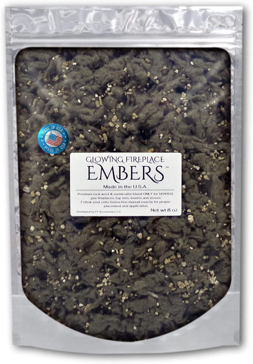 Gas Fireplace Glowing Embers Rock Vermiculite fo OFFicial mail order Credence Wool Blend and