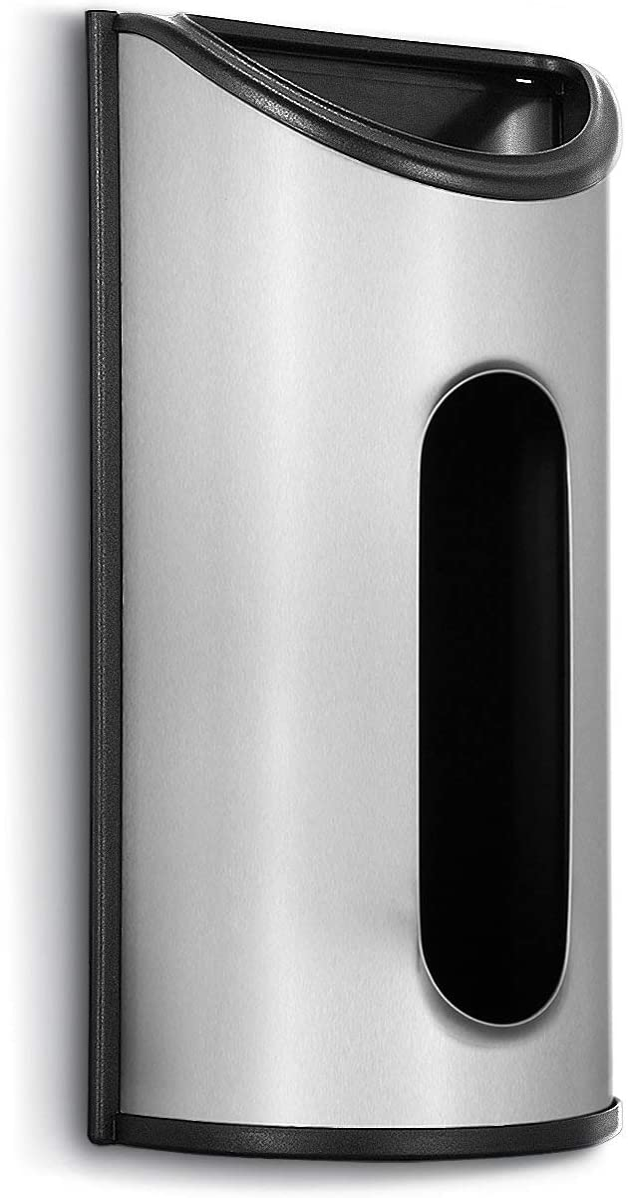 malmo Bags holder-Stainless Steel Wall Mount Grocery Bag Dispenser, Bags Storage for Plastic bag,Anti-Fingerprints, Silver…
