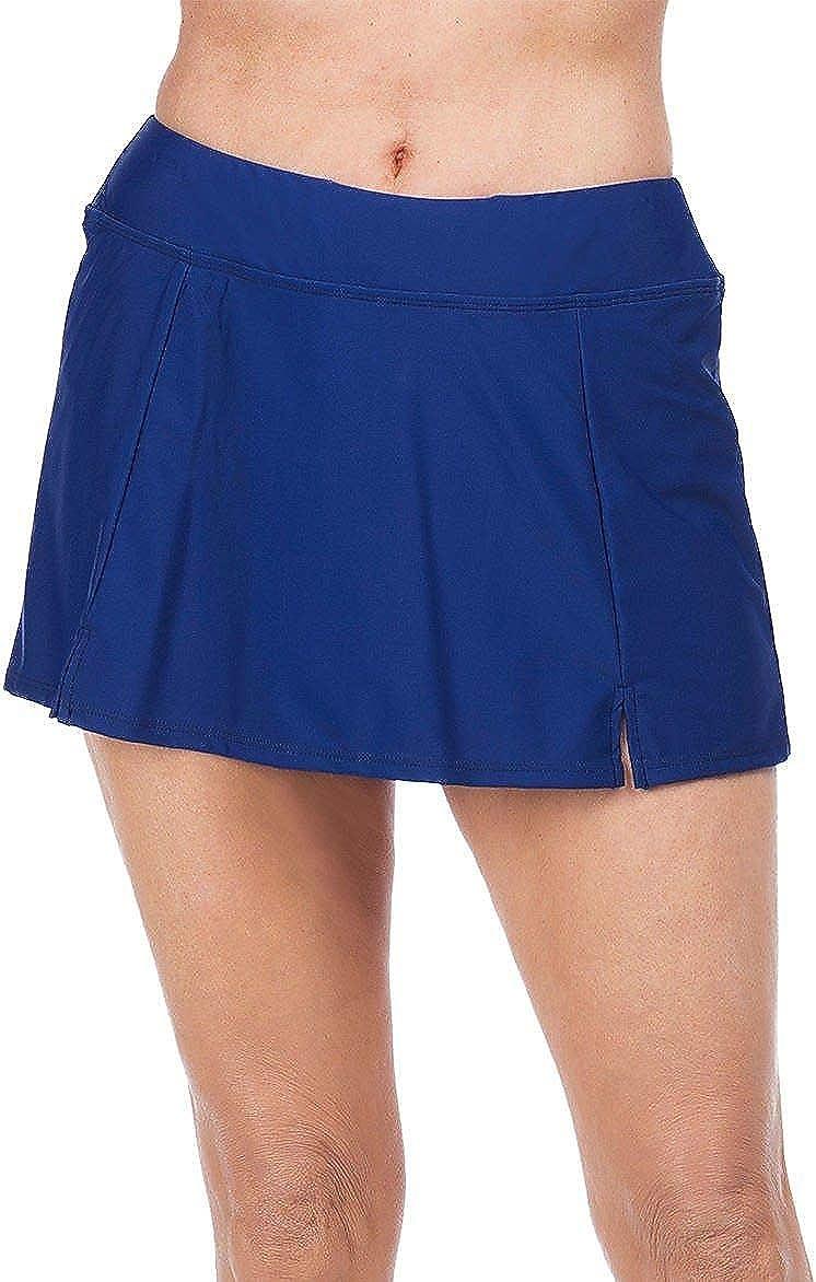 Maxine Of Hollywood Women's Side Slit Swim Skirt Swimsuit