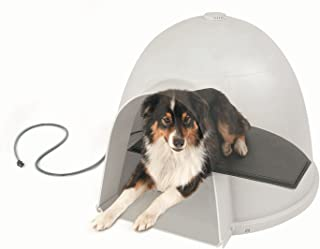 "K&H Pet Products Lectro-Kennel Igloo Style Outdoor Heated Pad Large Black 17.5"" x 30"" 80W (Igloo House not Included)"