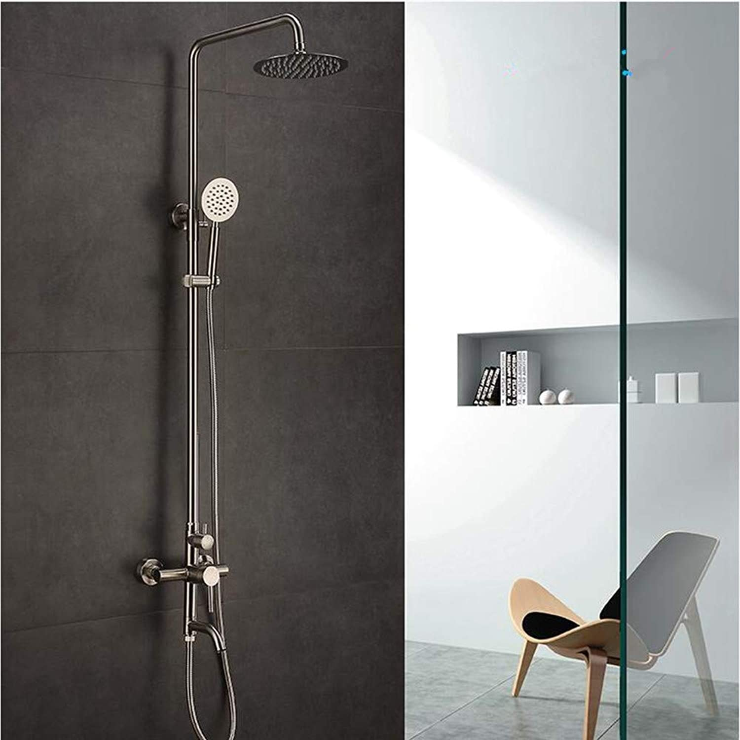 AGECC Best Choice Shower Bath Set Stainless Steel Large Shower Set Can Be redated With Lifting Shower Shower
