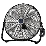Lasko 20' High Velocity QuickMount, Easily Converts from a Floor Wall Fan, 7 x 22 x 22 inches, Black 2264QM