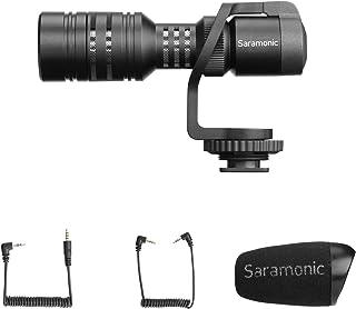 Mini Micrófono de Video Profesional Micrófono de Desecho Compacto para Cámara iPhone / Android Smartphone Canon, EOS/Nikon DSLR y Videocámara