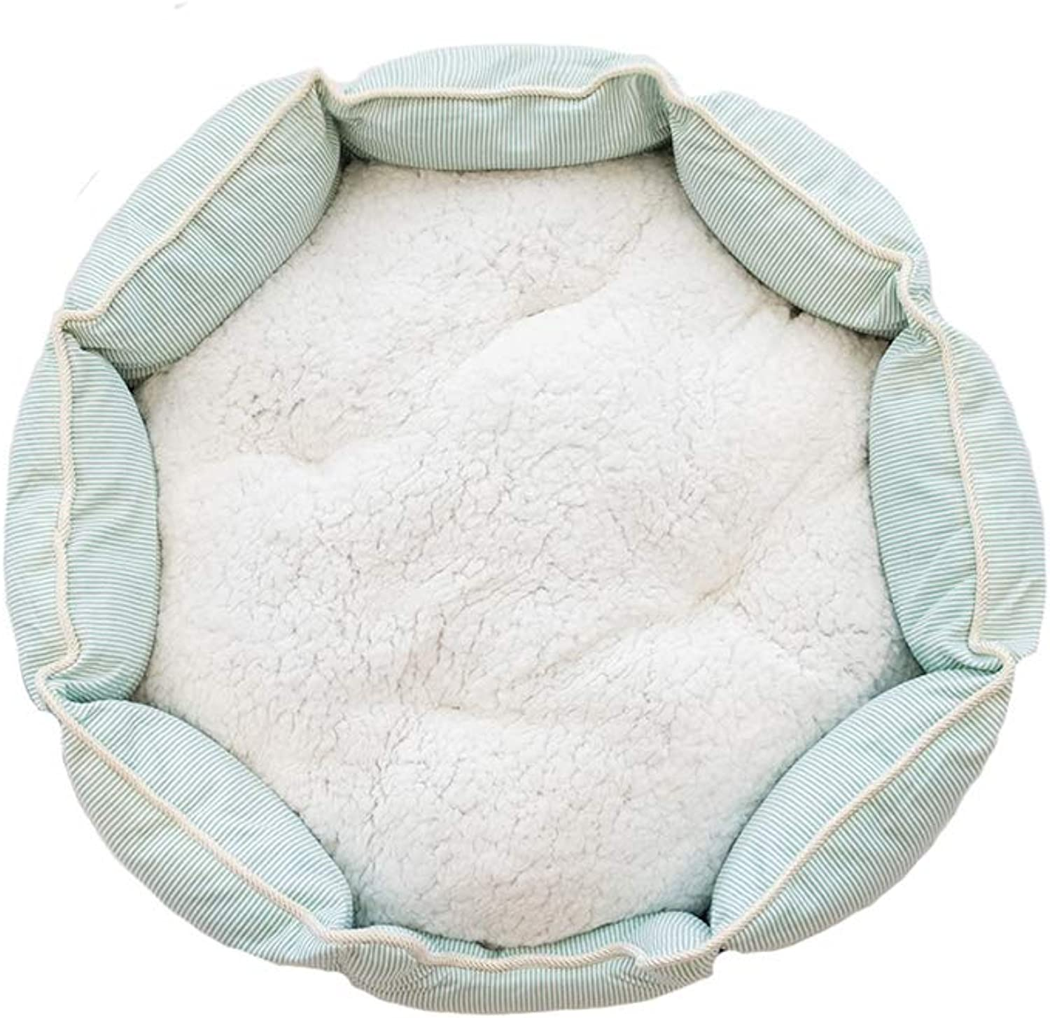 JXLBB Mint Green Small Fresh Striped Kennel Teddy Small Dog golden Hair Medium Dog Dog Bed Autumn and Winter cat Litter cat and Dog Universal