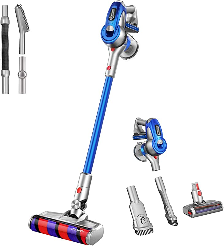 Jimmy Cordless Stick Vacuum 150AW Powerful Suction Cordless Vacuum Cleaner 500W Digital Motor 100 000RMP Speed With Detachable Lithium Battery 2 Year Warranty