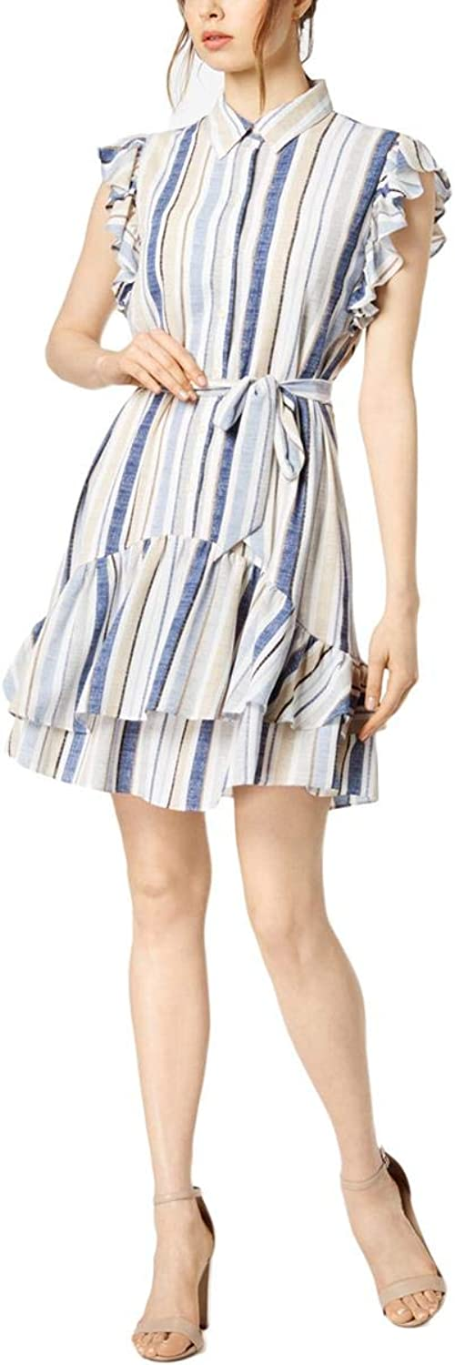 Julia Jordan Womens Ruffled KneeLength Shirtdress