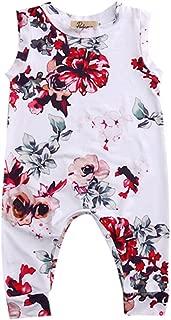 GRNSHTS Toddler Baby Girls Full Flower Print Long Romper