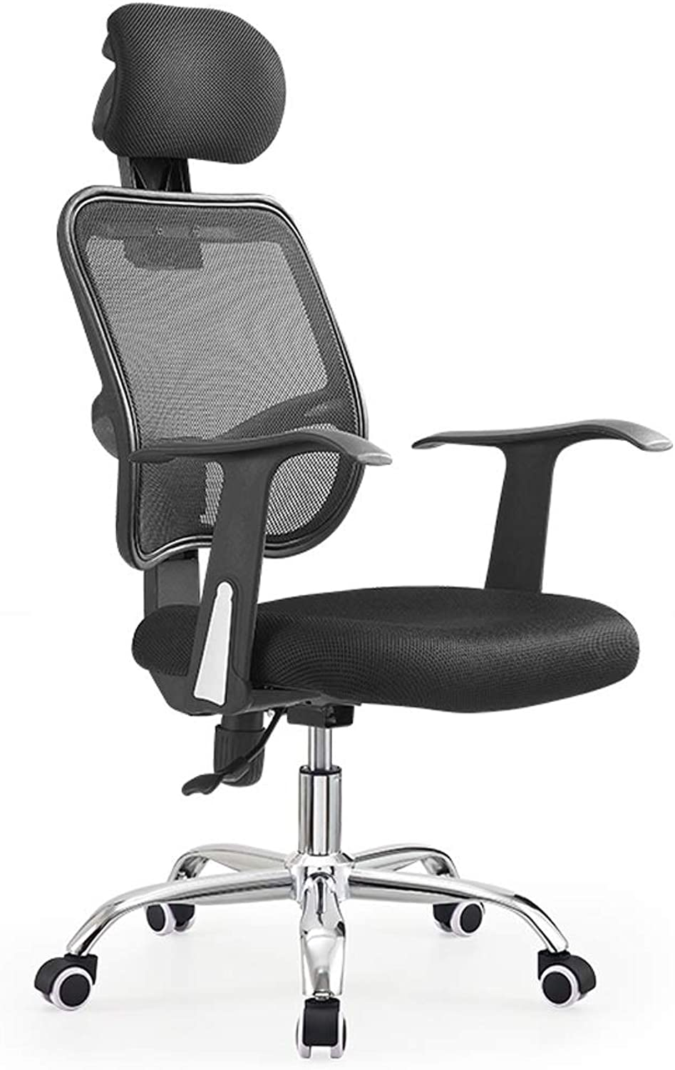 Office Chair High Back,Ergonomic Mesh Desk Chair with Headrest Support,Swivel Task Chair,Steel Casters,for Home Office (color   Black)
