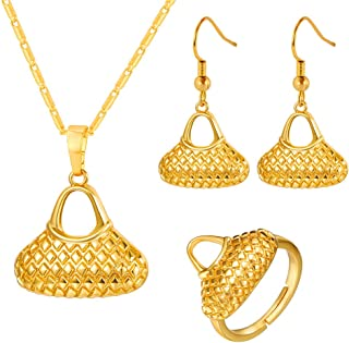 18K Gold Plated PNG Pendant & Necklaces for Women Papua New Guinea Bilum Jewelry