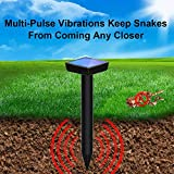 SEALUXE Snake Repellent for Outdoors Pet Safe,Solar Snake Repeller Ultrasonic Outdoor,Snake Away Repellent for Outdoors,for Yard,Snake Trap (Black)