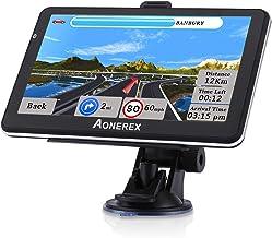 Navegación GPS para coche camión 7 pulgadas pantalla táctil navegación por voz vehículo GPS para coche HGV, advertencia de velocidad, mapas 2021, actualización gratuita de mapas de por vida de EE.UU. Canadá México