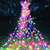 MAOYUE Outdoor Christmas Decorations 335 LED Star Lights 8 Lighting Modes Outside Tree Decoration Lights for Yard, New Year, Wedding, Party