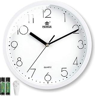 Laigoo 10 Inch Modern Wall Clock Decorative Non-Ticking - Silent Quartz Movement Battery Operated Analog Clock Round for B...