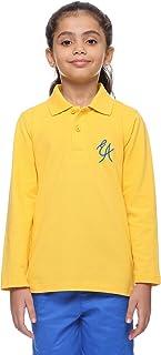 قميص بولو شتوي طويل الأكمام مطبوع عليه El Alsson Whole School مطبوع عليه شعار مطرز