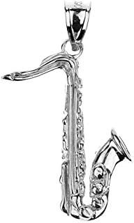 925 Sterling Silver Music Charm Saxophone Pendant